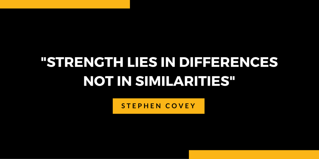 Diversity quote - Strength lies in differences - Not in similarities - multicultural is the new black