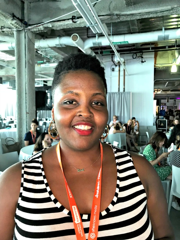 curly hair at Blogher18
